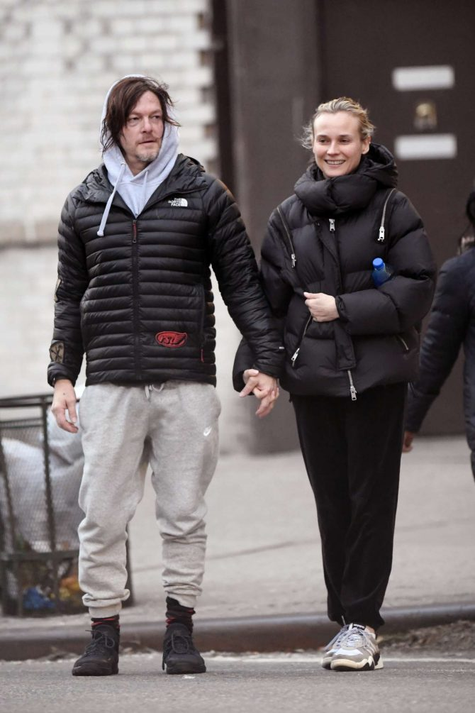 Diane Kruger and Norman Reedus – Out for a stroll in New York City