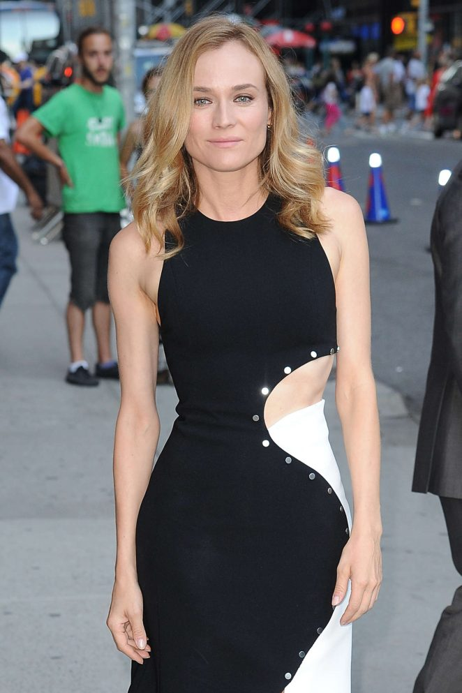 Diane Kruger - Arrives at 'The Late Show With Stephen Colbert' in New York