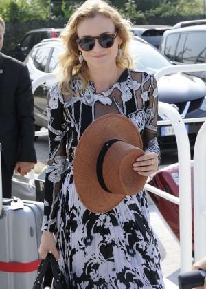 Diane Kruger - Arrives At The Lido For The 72nd Venice Film Festival