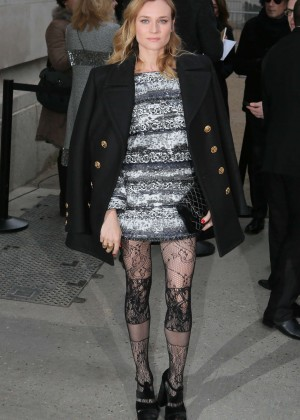 Diane Kruger - Arriving at Chanel Fashion Show 2016 in Paris