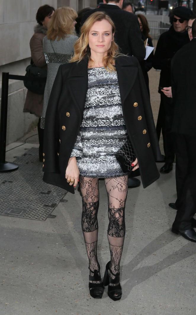 Diane Kruger – Arriving at Chanel Fashion Show 2016 in Paris