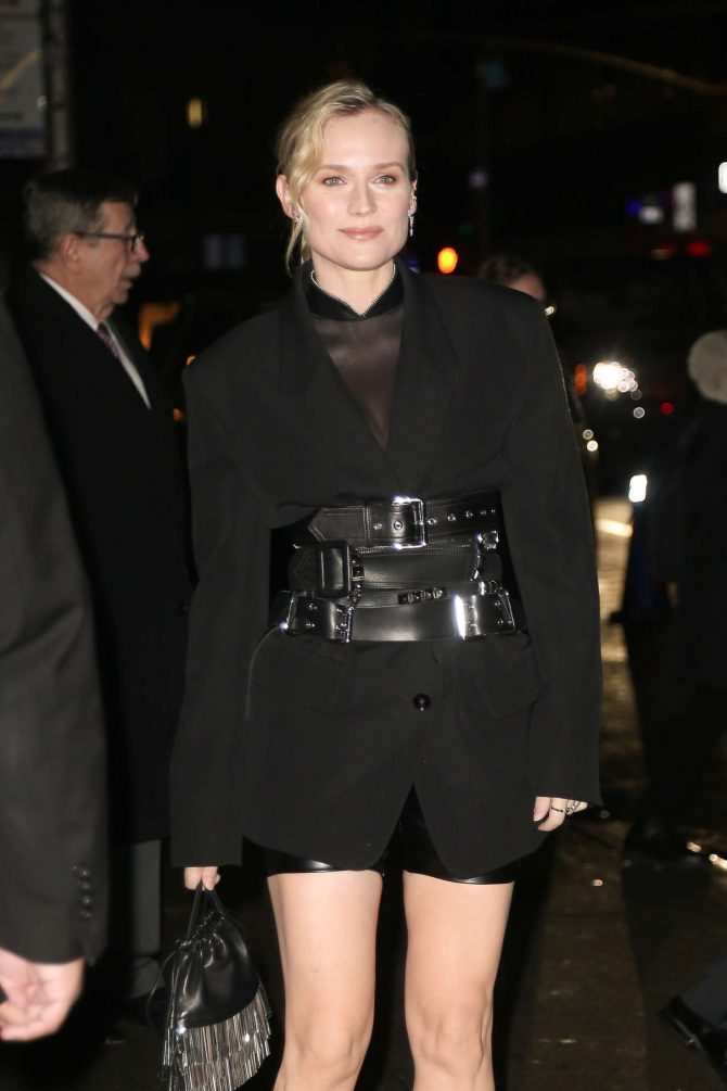 Diane Kruger - Arriving at 'Late show with Stephen Colbert' in New York