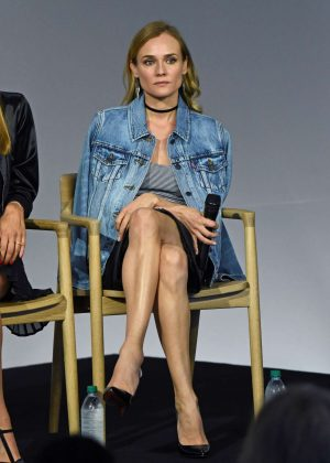 Diane Kruger at Apple Store to Promote Her New Film Disorder in NYC