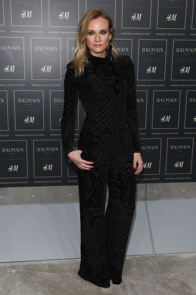 Diane Kruger - Balmain x H&M Collection Launch in NYC