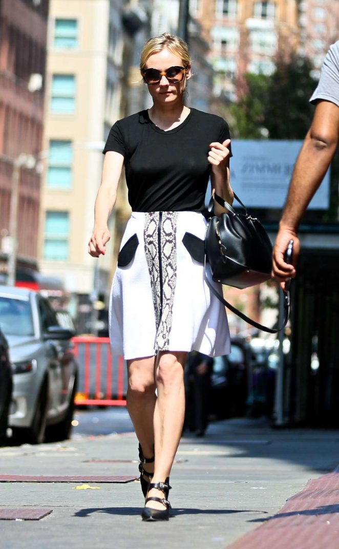 Diane Kruger heading to the tailor in New York City