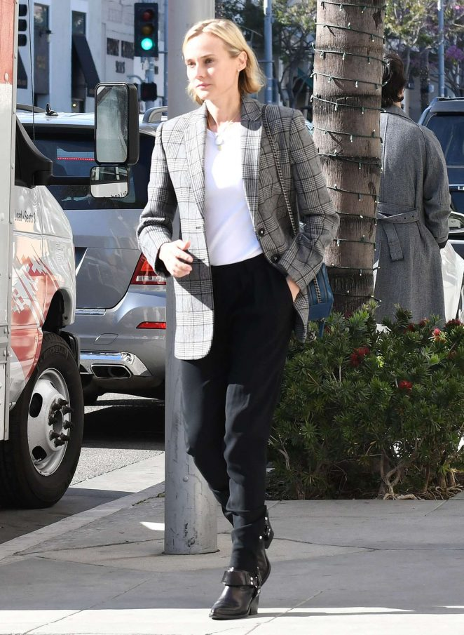 Diane Kruger - Heads to Barneys New York in Beverly Hills