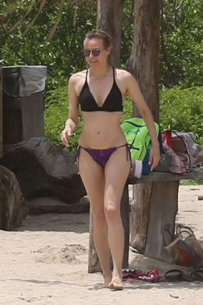 Diane Kruger in Bikini on Costa Rica Beach
