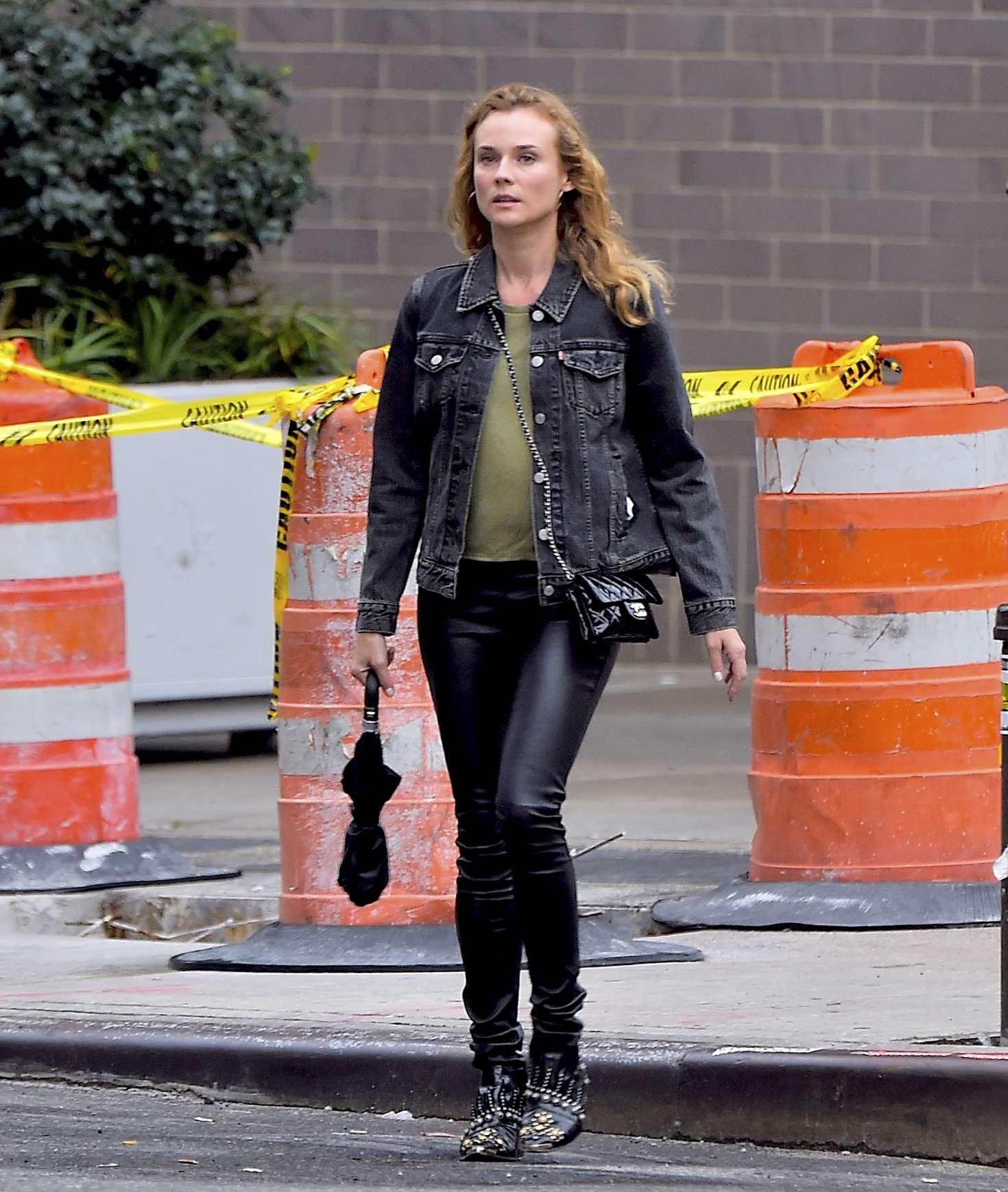 Diane Kruger 2016 : Diane Kruger in black leather pants -08