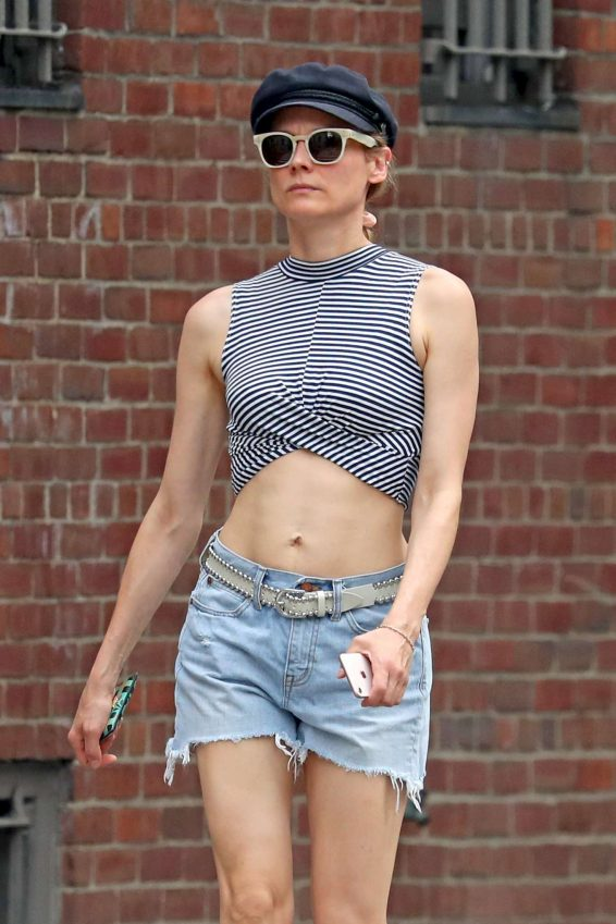 Diane Kruger in Denim Shorts - Out in New York City