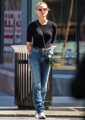 Diane Kruger in Jeans out in East Village