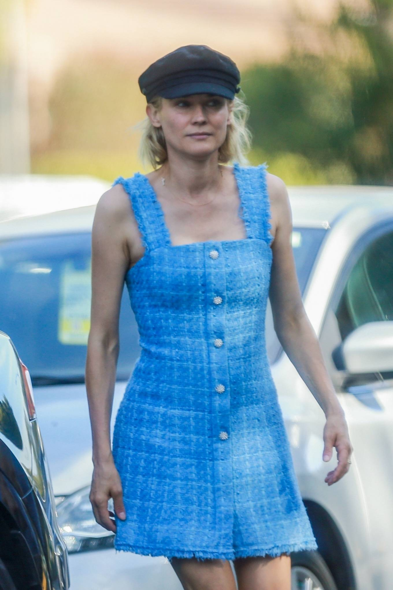 Diane Kruger in Mini Dress at the park in Beverly Hills