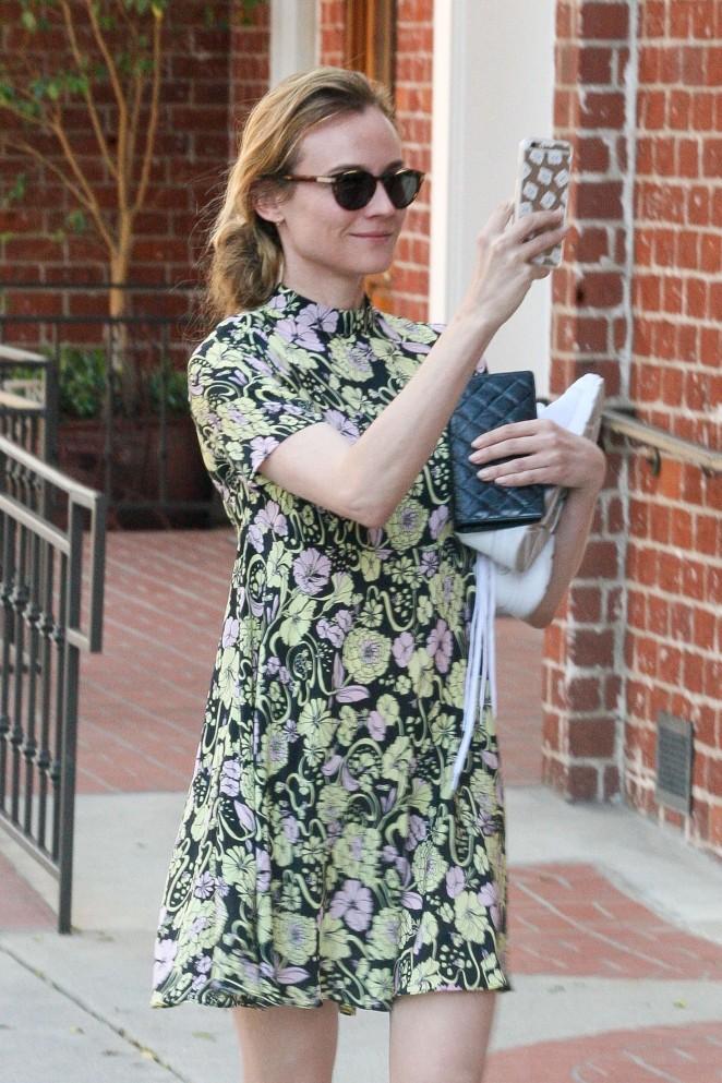 Diane Kruger in Short Dress out in Beverly Hills