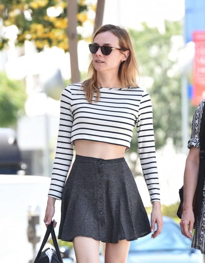 Diane Kruger in Short Skirt Shopping in West Hollywood