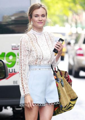 Diane Kruger in Shorts out in New York City