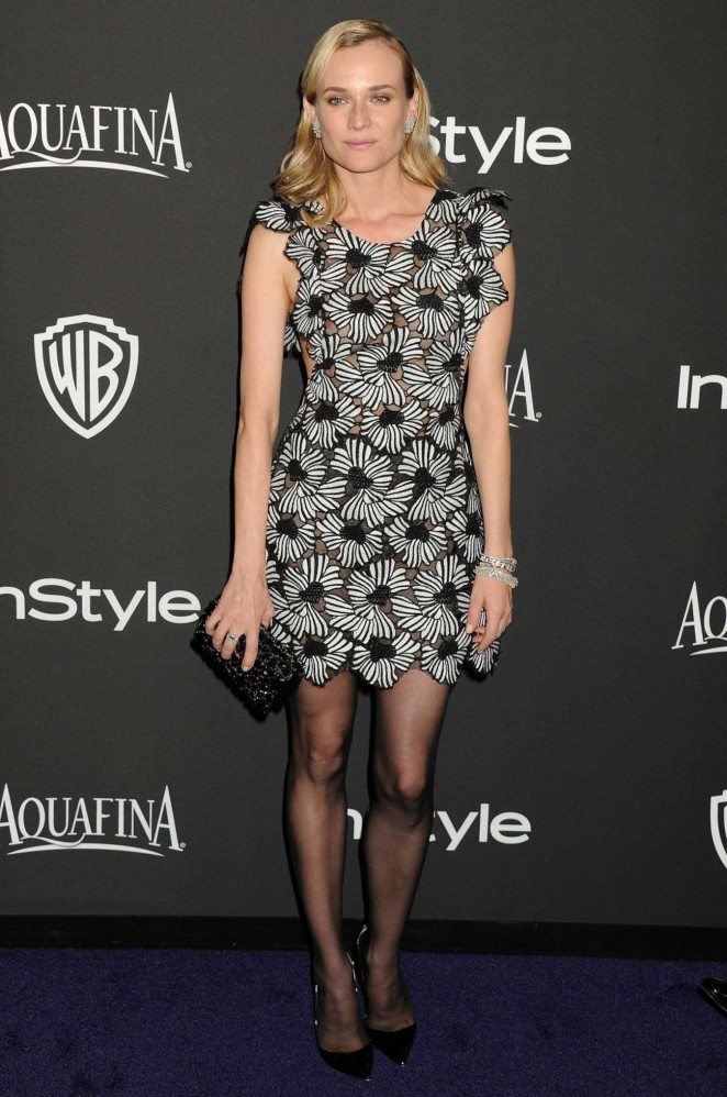 Diane Kruger - InStyle And Warner Bros Golden Globes Party 2015 in Beverly Hills