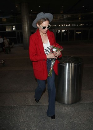 Diane Kruger in Jeans at LAX Airport in LA