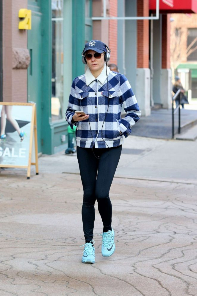Diane Kruger Leaves gym in New York City