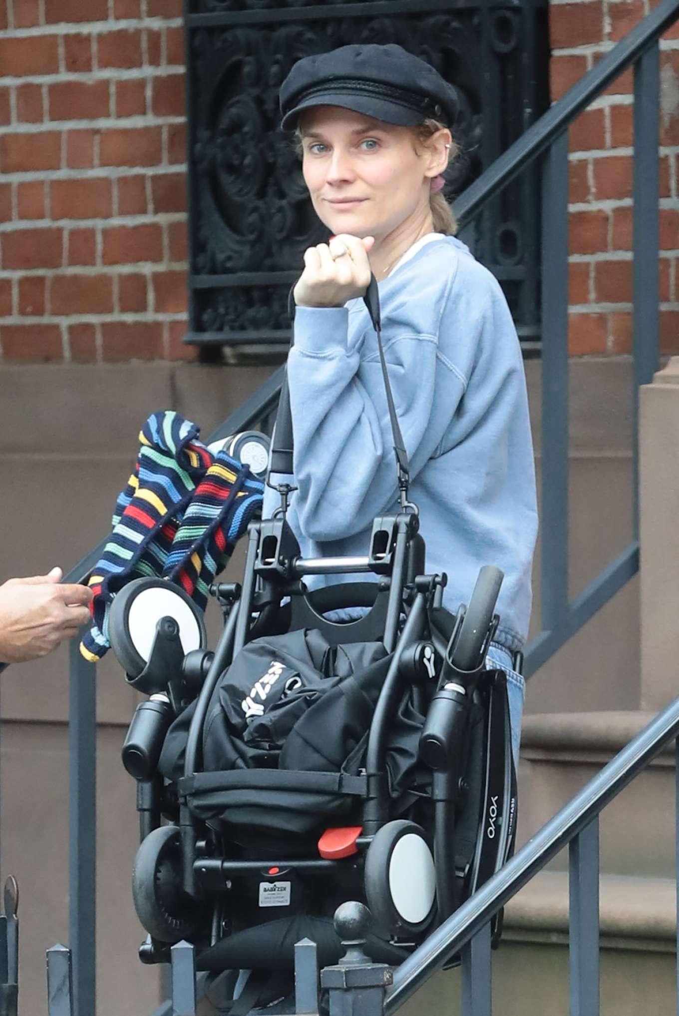 Diane Kruger - Leaves her home in New York