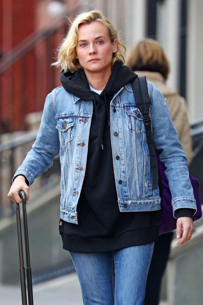 Diane Kruger Leaving her East Village apartment in New York