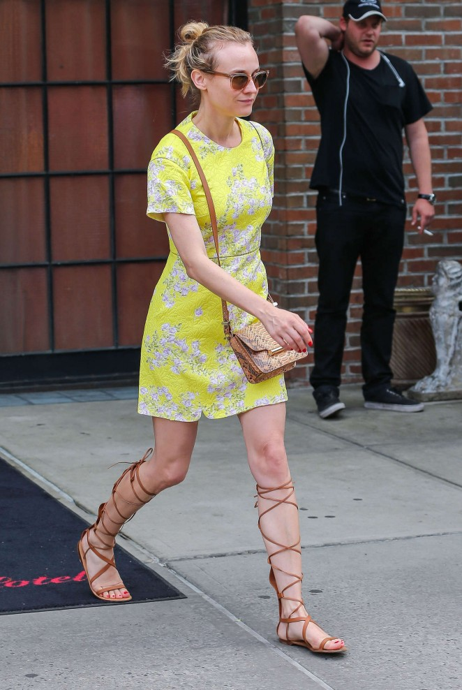 Diane Kruger – Leaving the Bowery Hotel in NYC
