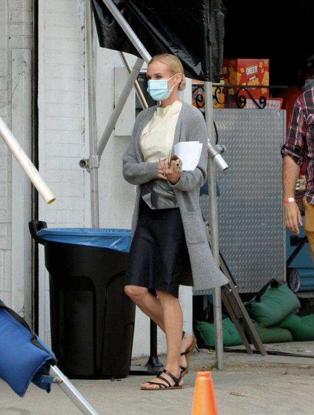Diane Kruger - On the set of 'Swimming With Sharks' in downtown Los Angeles