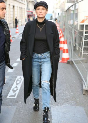 Diane Kruger - Out and about in Paris