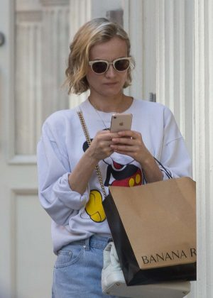 Diane Kruger out and about in Soho