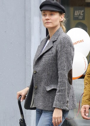 Diane Kruger in Jeans out in Toronto