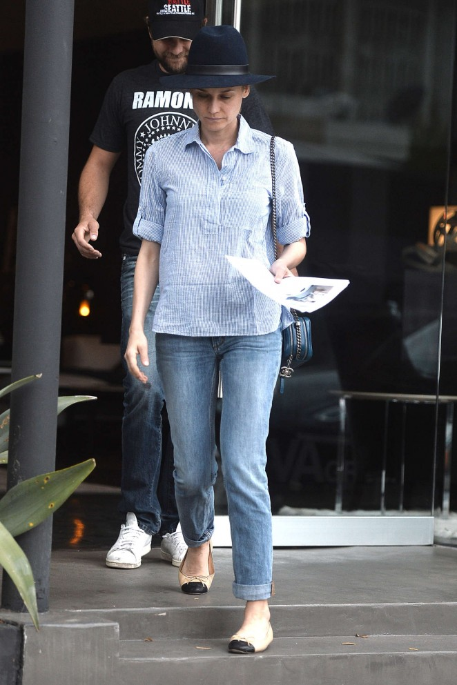 Diane Kruger in Jeans Out in Los Angeles