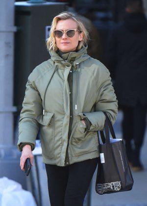 Diane Kruger out in Soho