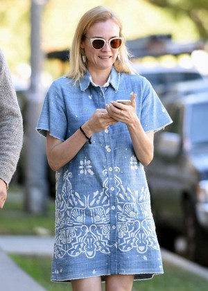 Diane Kruger in Mini Dress out in West Hollywood