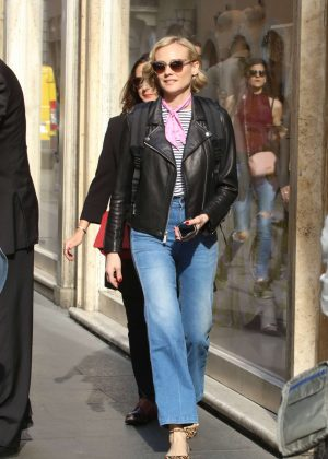 Diane Kruger out shopping in Rome
