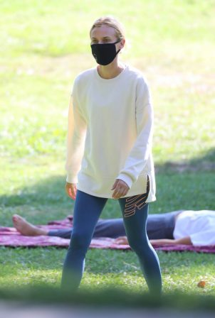 Diane Kruger - Out with her baby at a park in Los Angeles