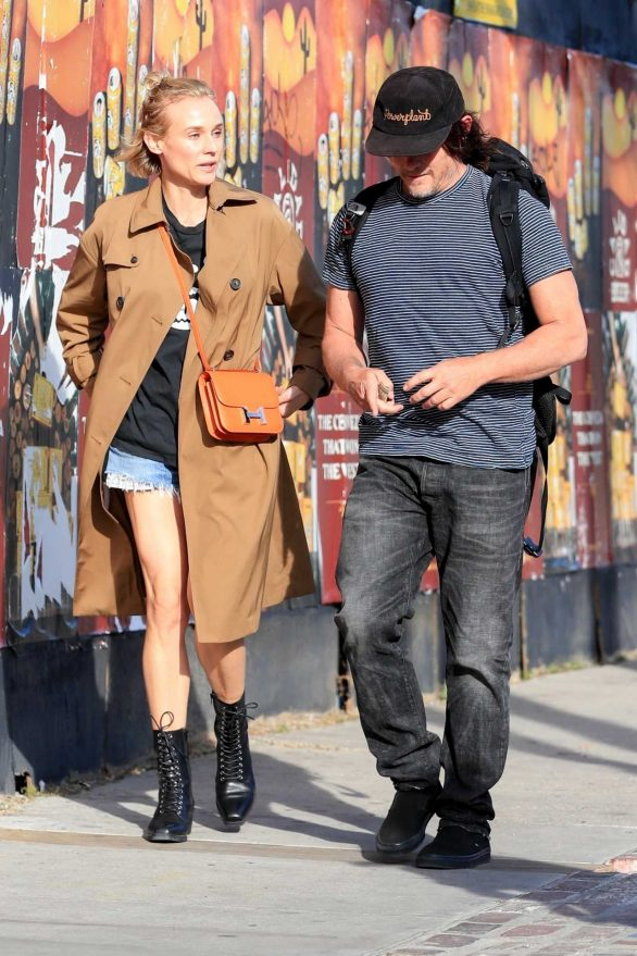 Diane Kruger - Seen out with Norman Reedus in Los Angeles