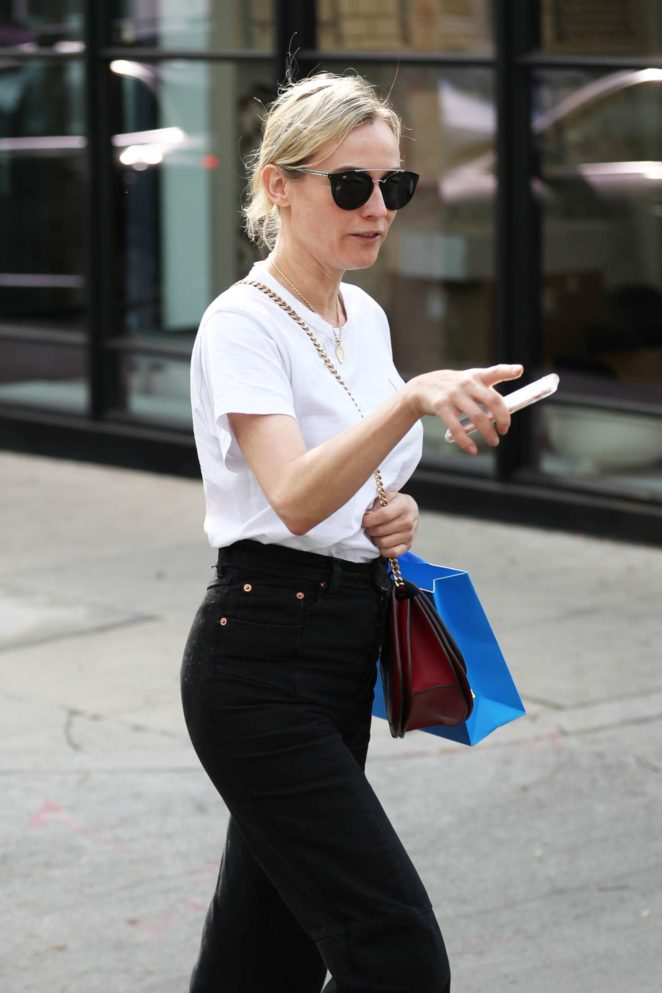 Diane Kruger – Shopping at Cotton Citizen in Los Angeles