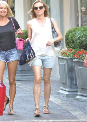 Diane Kruger in Shorts Shopping in Hollywood