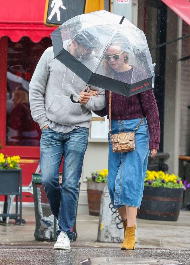 Diane Kruger in Jeans Skirt -02