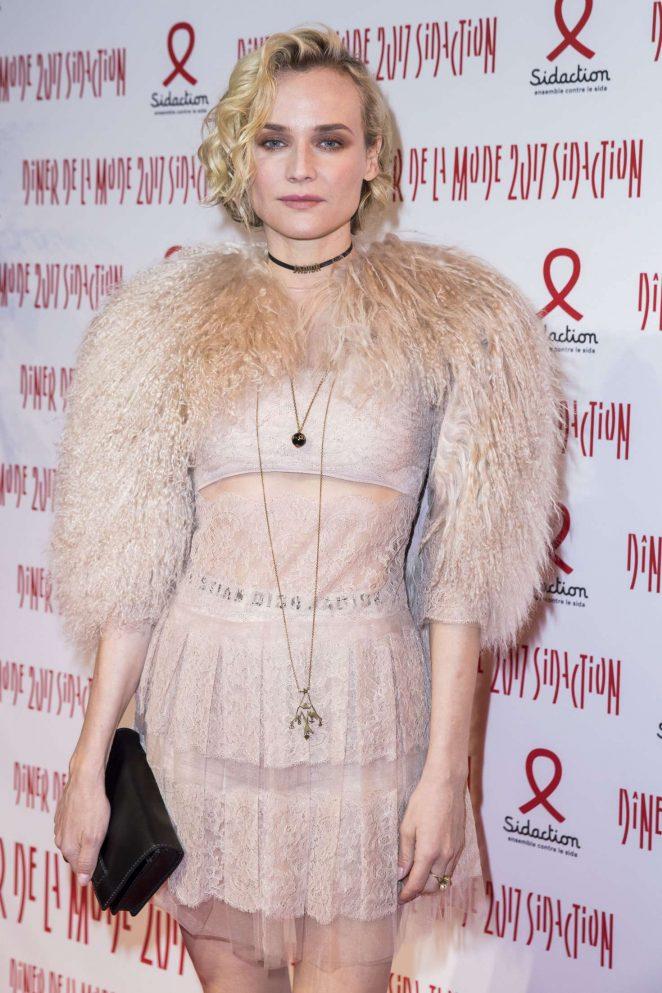 Diane Kruger - Sidaction Gala Dinner SS 2017 in Paris