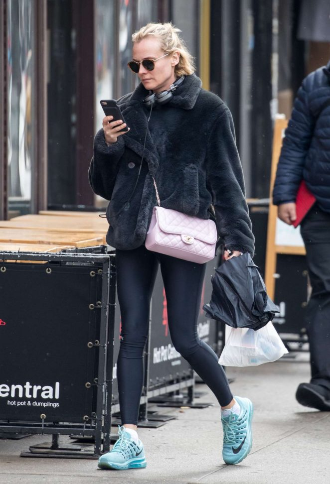 Diane Kruger while walking out in New York
