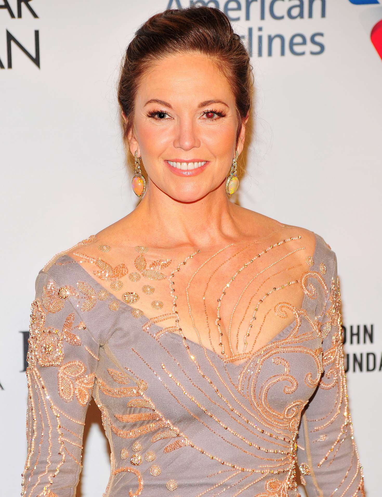 Diane Lane - Elton John AIDS Foundation at 2017 NY Fall ...