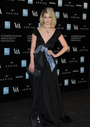 Dianna Agron - Alexander McQueen: Savage Beauty Gala in London