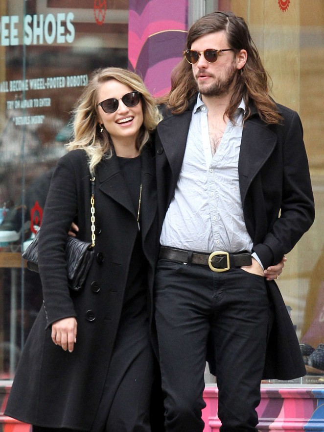 Dianna Agron and fiance Winston Marshall out in Manhattan