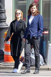 Dianna Agron and her husband Winston Marshall - Out in Soho, NYC