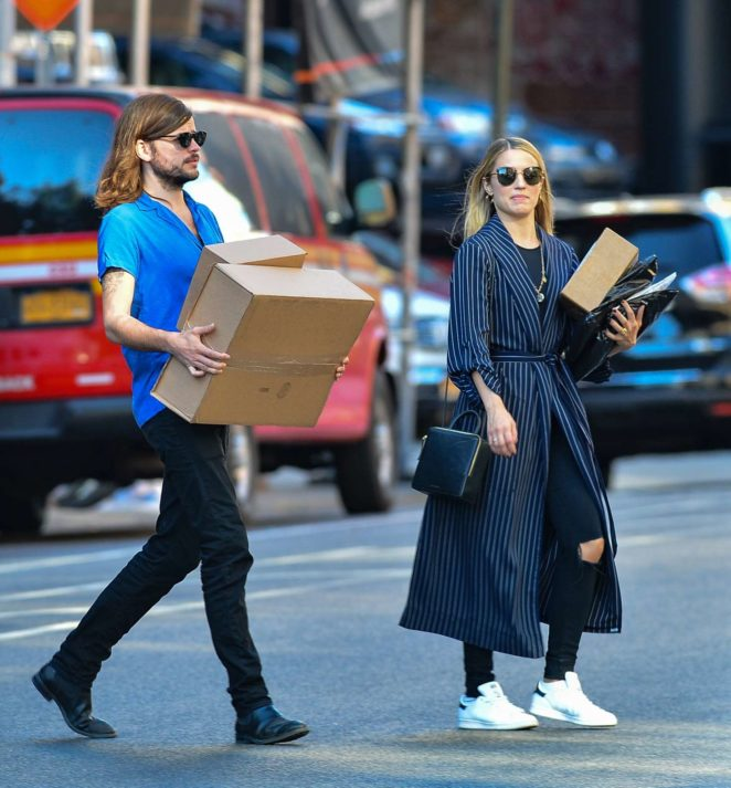 Dianna Agron and Winston Marshall out in New York City