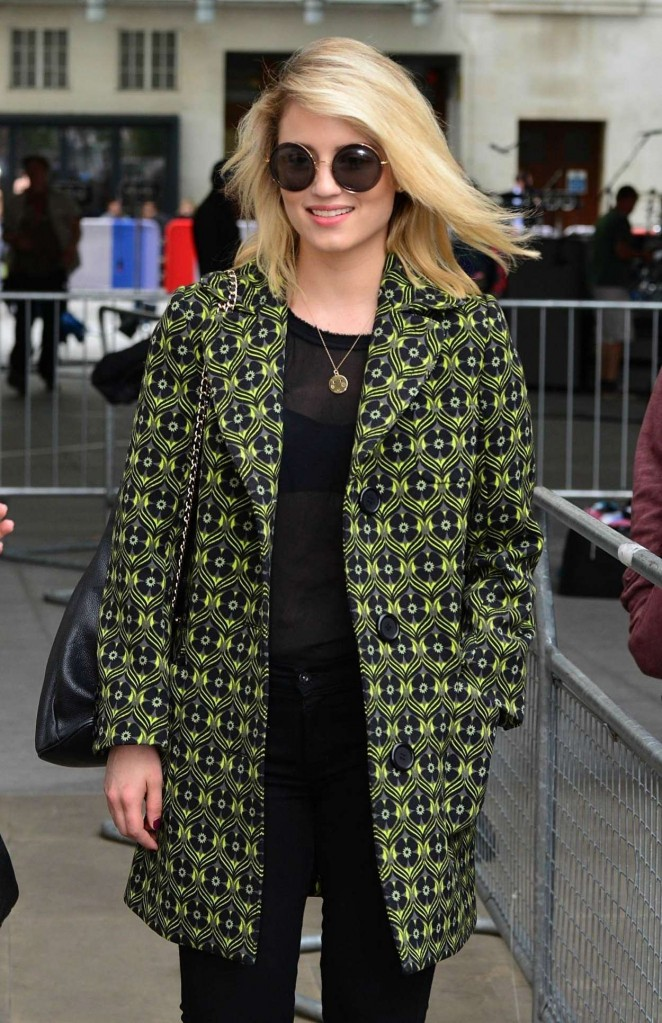 Dianna Agron at BBC Radio 1 Studios in London