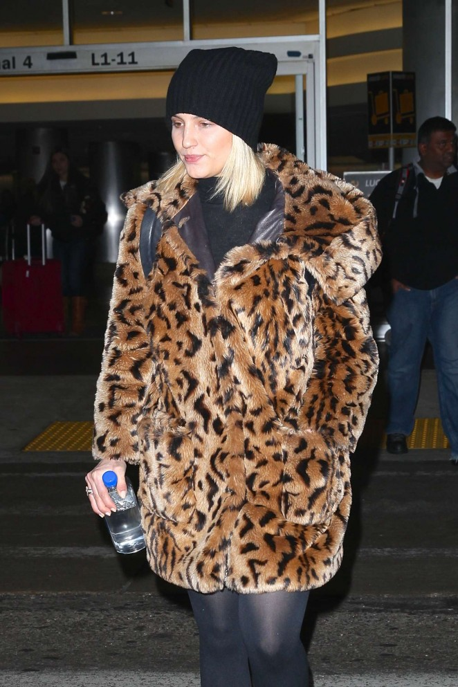 Dianna Agron at Lax Airport in LA