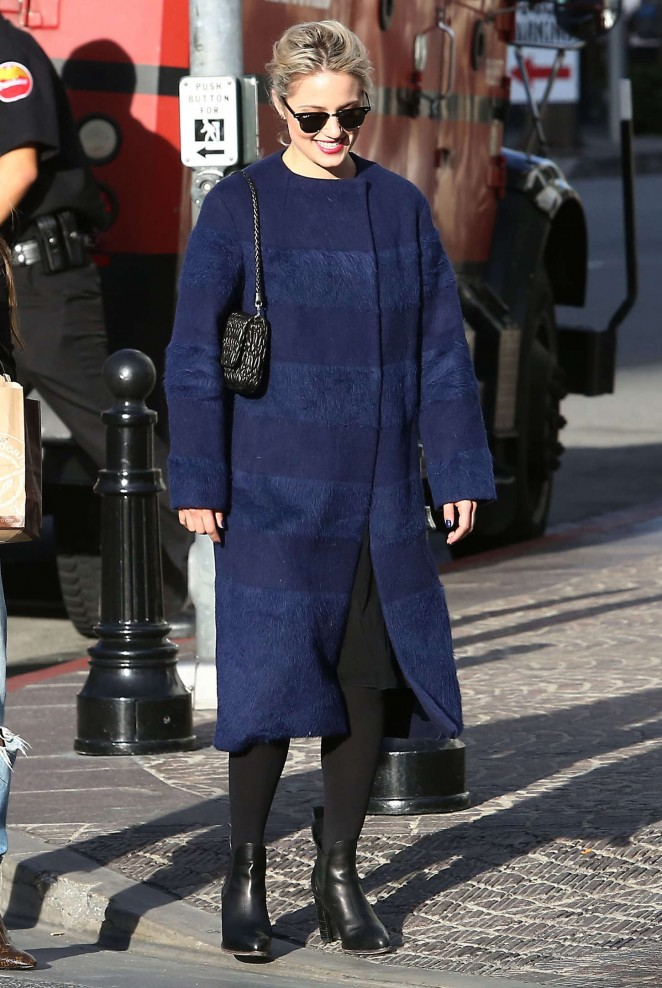 Dianna Agron at Louis Vuitton Store -04