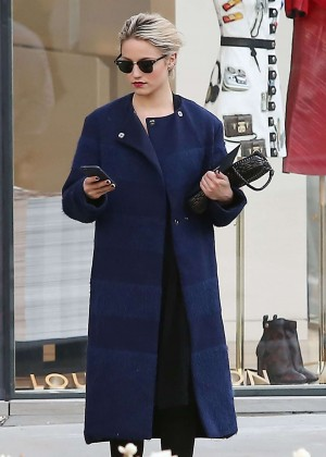 Dianna Agron at Louis Vuitton Store in Beverly Hills