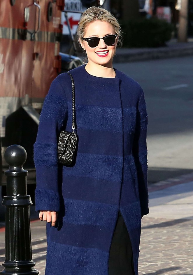 Dianna Agron at Louis Vuitton Store -14