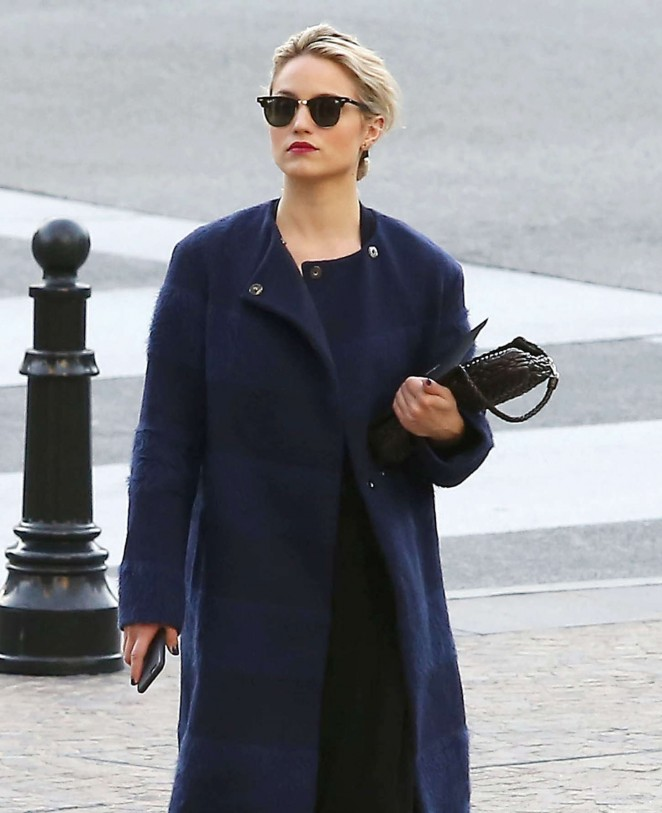 Dianna Agron at Louis Vuitton Store -18